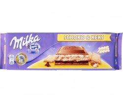 milka ciocolata si biscuiti 300 gr