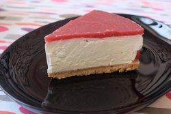 Cheesecake cu căpsuni proaspete - la bucată