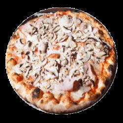 Pizza Prosciutto e Funghi mare