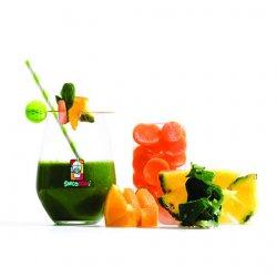 Smoothie Green Freak (ananas, portocală, spanac, morcovi)