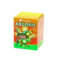 Ascovit cu Vitamina C aroma de portocala, 60 comprimate, Omega..
