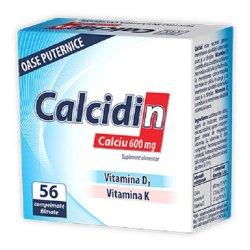 Calcidin Calciu 600mg, 56 capsule, Zdrovit