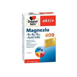 Magnesium 400 Doppelherz + Acid folic + Vitamina B6, 30 tablete,..