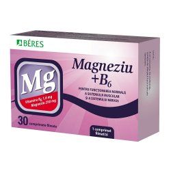 Magneziu + B6, 30 comprimate, Beres Pharmaceuticals Co