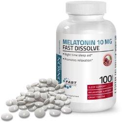 Melantonina 10 mg cherry, 100 tablete, Bronson
