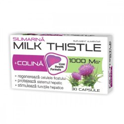Silimarină + Colina Milk Thistle 1000mg, 30 capsule, Natur Produkt