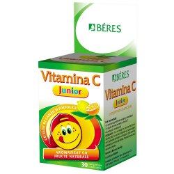 Vitamina C Junior, 30 comprimate masticabile, Beres
