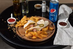 Meniu hot dog tortilla spicy image