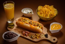 Meniu Hot Dog Spicy Cheddar image
