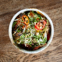 Jap Chae Glass Noodles with Beef and Lots of Vegetables image