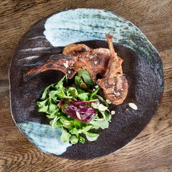 Lamb Chops served with mint mustard image