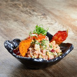Tuna and Salmon Deconstructed California Roll Sushi Bowl image