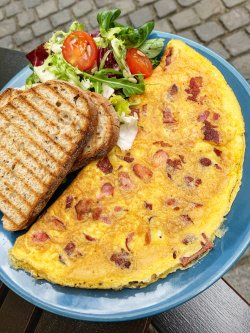 Bacon & Cheese Omelette
