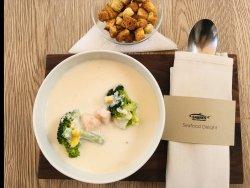 Supă cremă cu somon image