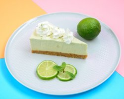 Cheesecake lime and mint