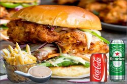 Meniu BBQ Chicken Burger 500 g image