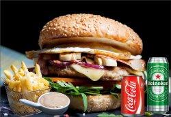 Meniu Boy's burger 550 g image