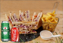 Meniu Chicken Delux Club Sandwich  550 g image