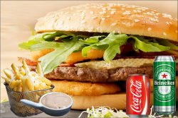 Meniu BBQ onion rings burger 550 g image