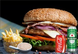 Meniu Power Burger 500 g image