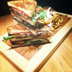 Bbbq pulled pork club sandwich 500 g