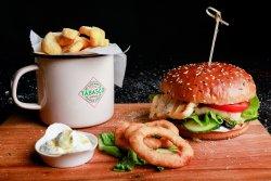 Tzatziki Halloumi Burger image