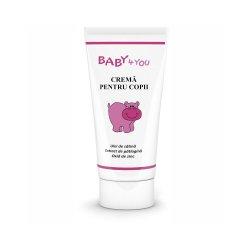 Crema Baby 4 You pentru copii cu ulei de cătină, 50 ml, Tis Farmaceutic
