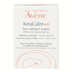 Sapun solid relipidant pentru igiena pielii uscate predispusa la dermatita atopica sau prurit XeraCalm A.D., 100 g, Avene