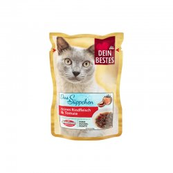Dein Bestes hrana pisici supa vita rosii 40g image