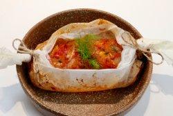 Salau la cuptor cu sparanghel si sos românesc image