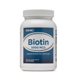 Biotină 5000 mcg (289413), 120 capsule, GNC image