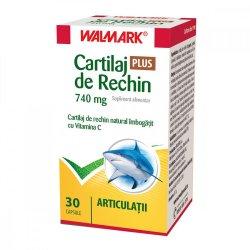 Cartilaj de Rechin Plus 740 mg cu Vitamina C, 30 capsule, Walmark image