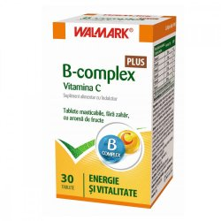 B complex + Vitamina C cu aromă de fructe, 30 tablete, Walmark image