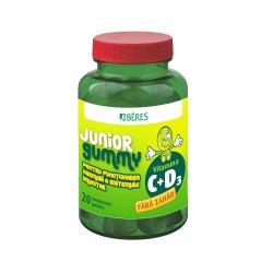 Vitamina C + D3 Junior Gummy, 20 comprimate gumate, Beres Pharmaceuticals.. image