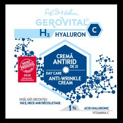 Cremă antirid de zi Gerovital H3 Hyaluron C, 50 ml, Farmec