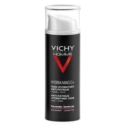 Cremă hidratantă cu efect anti-oboseală pentru față și zona ochilor Hydra Mag C, 50 ml, Vichy Homme