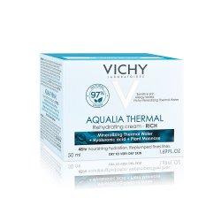 Cremă hidratantă pentru ten uscat și foarte uscat Aqualia Thermal Rich, 50 ml, Vichy