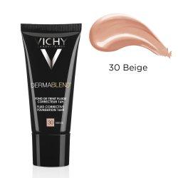 Fond de ten corector acoperire 16h DermaBlend Nuanța 30 Beige, 30 ml, Vichy