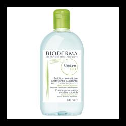 Soluție micelară ten mixt și gras H2O Sebium, 500 ml, Bioderma