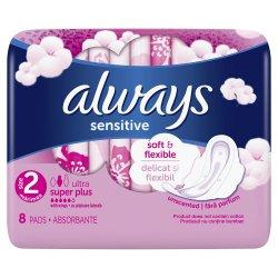 Absorbante Always Ultra Sensitive Super Plus, 8 bucati, P&G