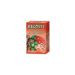 Ascovit cu Vitamina C aroma de capsuni, 20 comprimate, Omega..