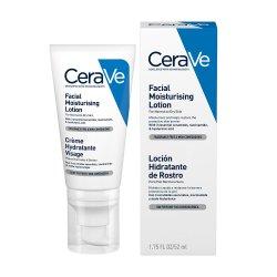 Cremă hidratantă de față pentru ten normal-uscat, 52 ml, CeraVe