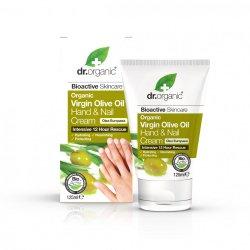 Dr Organic Ulei Masline Crema Maini & Unghii 125ml