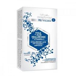 Fiole cu acid hialuronic si vitamina C Gerovital H3 Hyaluronic C, 10 x 2 ml, Farmec