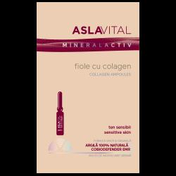 Fiole cu colagen AslaVital, 10 fiole x 2 ml, Farmec