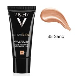 Fond de ten corector cu acoperire 16 ore DermaBlend, Nuanța 35 Sand, 30 ml, Vichy