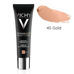 Fond de ten corector cu acțiune de nivelare 16h DermaBlend 3D Correction, Nuanța 45 Gold, 30 ml, Vichy