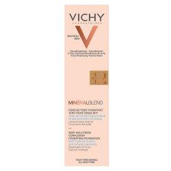 Fond de ten cu acid hialuronic MineralBlend, Nuanța Sienna 12, 30 ml, Vichy