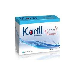 Korill ulei pur de krill 500 mg, 30 capsule, Sanience