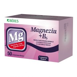 Magneziu + B6, 50 comprimate, Beres